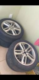 Vende se jogo de rodas c/ 4 pneus Aro 17 - Negociável