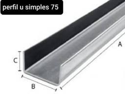 Venda perfil  u simples galvanizado