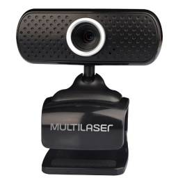 Webcam Multilaser Plug e Play 480P Mic Usb Preto - WC051
