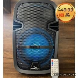 Caixa de Som Alto Falante Amplificada + Microfone