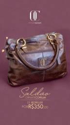 Bolsa sacola feminina em couro legítimo