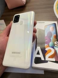 Samsung Galaxy a21s na caixa