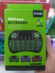 Mini teclado P/ Tv box/ celular/ vídeo Games etc...
