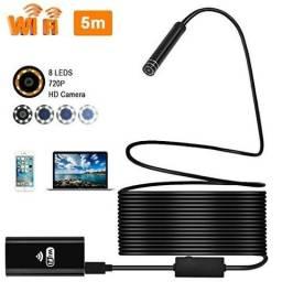 Câmera Endoscópica Wifi E Cabo 5 metros Iphone Android