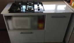 Armário + fogão Cooktop 4 bocas