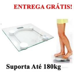 Balança Corporal Digital vidro temperado suporta até 180kg