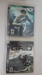 Dois jogos ps3 Darksector é Grid