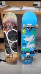 Skate flip completo e shape plan B com lixa