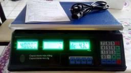 Balança Digital Alta Precisão 40kg Display Led Duplo Preta