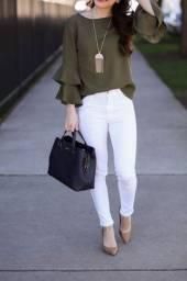 2 Calças Jeans Branca