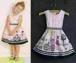 Vestido infantil bicicleta luxo entrega gratuita em toda baixada