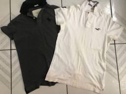 Camisas de marca Hollister e Abercrombie
