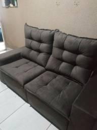 Sofá retrátil e reclinável fofão