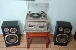 Vitrola/Toca-discos Polyvox 900M + Caixas Kenwood Ls90B