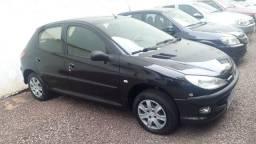 Peugeot 206 2007 preto completo 1.4