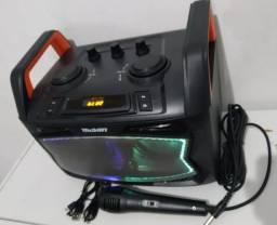 Caixa bluetooth com microfone DJ-90