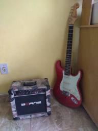 Guitarra strato sx + amp Borne