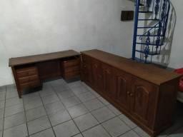Vendo conjunto de Mesa escritório e Biro para escritório.$7.000
