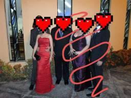 Vestido de festa longo e vermelho