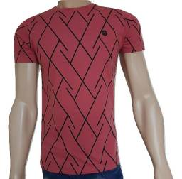 2 camisas masculina 100% algodão peça toda trabalhada na malha menegotti