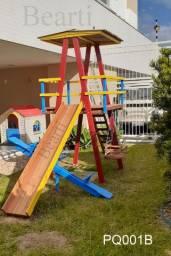 Parquinho - Playground (PQ001B) em 100% madeira de lei - brinquedos