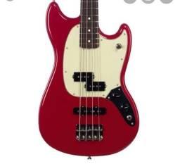 Baixo Fender Mustang short scale em excelente estado, novinho