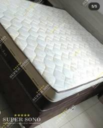 Conj Box Sleep Pocket Ortosleep Queen Size 158x198 Mola Ensacada A Pronta Entrega