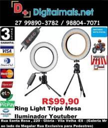Promoção Ring Light Tripé Mesa Iluminador Youtuber Maquiagem Fotos Selfie