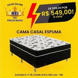 CAMA UNIBOX CASAL DE ESPUMA SEMI ORTOPÉDICA