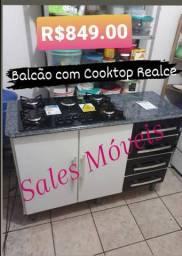 Balcão com Cooktop Realce