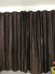 Cortina com o varão de cortina