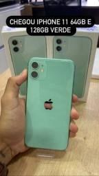 Loja física. iPhone 11 64/128gb VERDE novo lacrado NF
