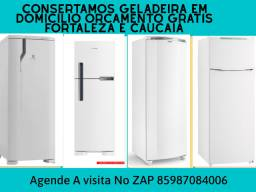 Conserto geladeira domicílio orçamento grátis