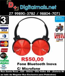 Promoção Fone Bluetooth Inova C/ Microfone Headphone