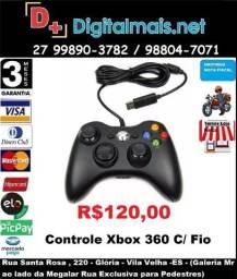 Promoção Controle Xbox 360 Com Fio P/ Pc Notebook