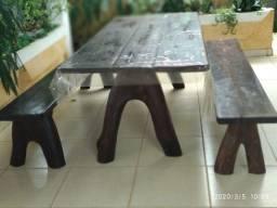 Mesa de varanda rustica em itaúba