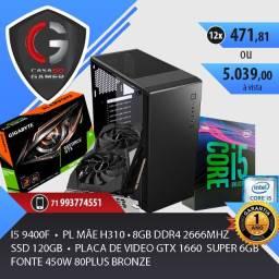 PC Gamer I5 9400f GTX 1660 Super 8gb ddr4 Gamer ssd 120gb fonte 450w Bronze