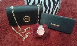 Kit bolsas + relógio