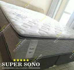 Conj Box Celestial Probel Super King 193x203 Mola Mola Ensacada A Pronta Entrega