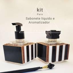 Kit para Aromatizador e Sabonete líquido luxo SunLight