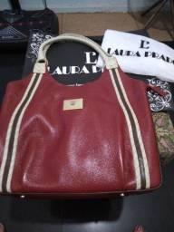 Bolsa Laura Prado Nova na embalagem de couro