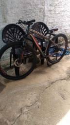 Bicicleta lótus cinza e vermelho