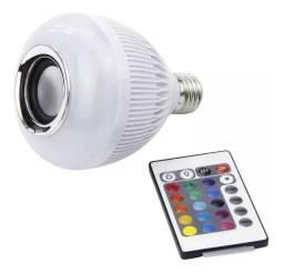 Caixa De Som Lâmpada Bluetooth com Controle