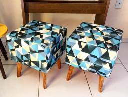 Puffs - impermeável - redondo e quadrado - diversas estampas - r$ 89,99 - unidade