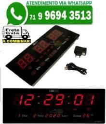 Relógio De Parede Led Digital Calendário Temperatura Alarme LK 3615 (Novo)