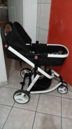 Carrinho de Bebê 3 Rodas com Bebê Conforto