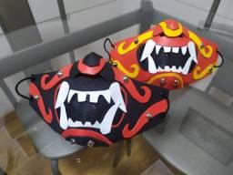 Máscara Artesanal Alto Padrão - Samurai