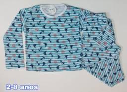 Pijamas em algodão, vc encontra na mini kids.