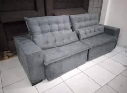 Sofa Retrátil e Reclinável com 2,50 de Largura Pilotop  a Pronta Entrega. <br>