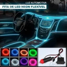 Fita neon para painel do veículo e demais compartimentos universal